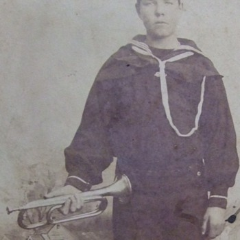 Spanish American War era Navy Bugler Photograph c. 1898 - Military and Wartime