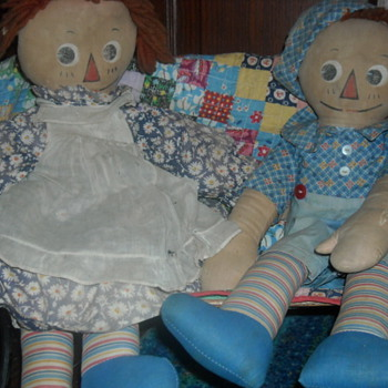 Molly-es Raggedy Ann and Andy - Dolls
