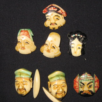 Chinese Folklore Buttons