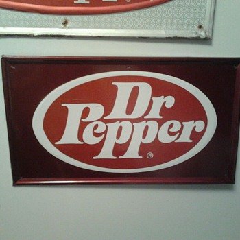 70's Dr Pepper Sign - Advertising