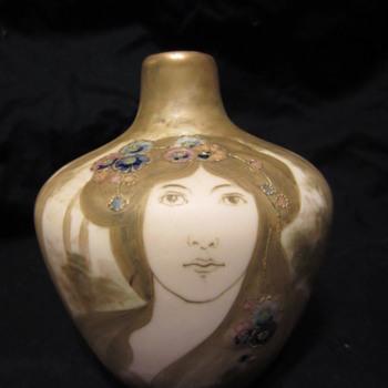 Amphora Portrait Vase - Art Nouveau
