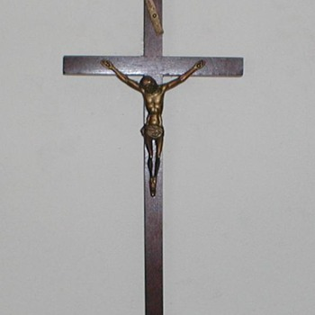 Catholic Cross - Brass