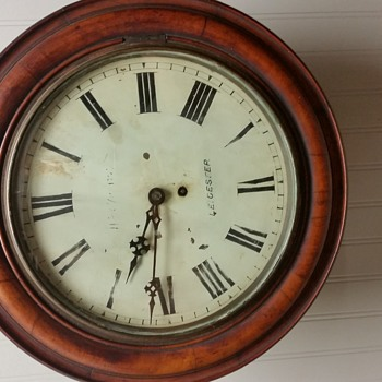 1860 english single fusee clocl