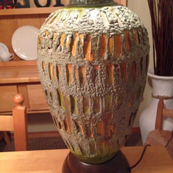 POTTERY LAMP/ LAVA?