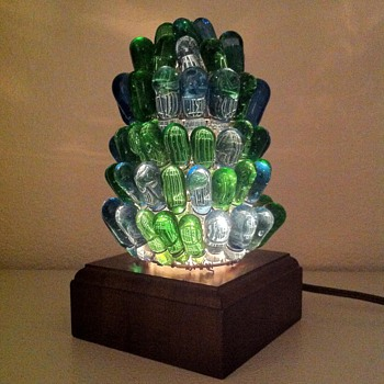 Czech Beaded Figural Lamp Shade - Lamps