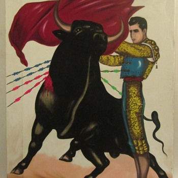 Bullfight acrylic painting - Visual Art