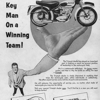1956 Triumph Motorcycle Advertisements