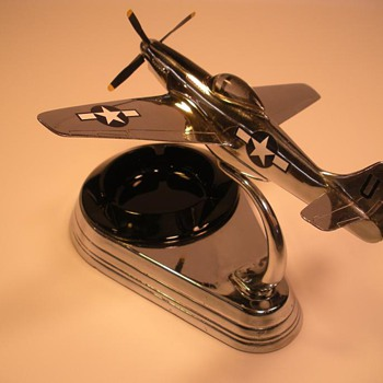 Overhauled Allyn P-51 Chrome Ashtray - Military and Wartime
