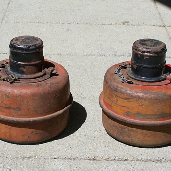 1930's Emergency Roadside Flares/Pots - Petroliana