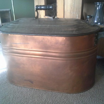Old copper canner