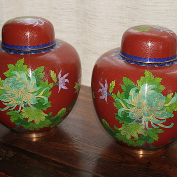 Cloisonne Lidded Jars - Asian