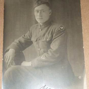 "81st ""Wildcat"" Division Soldier RPPC  - Military and Wartime"