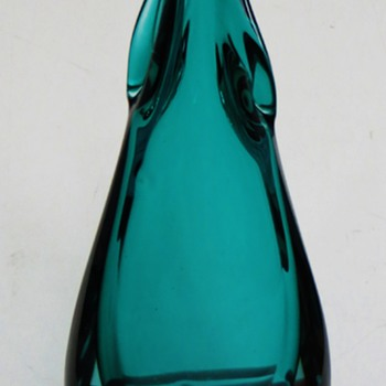 Interesting Squid-like Dark Green Vase~Very nice quality, mid century Vintage~?