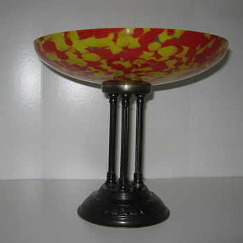 Czechoslovakia Glass Tazza - Art Glass