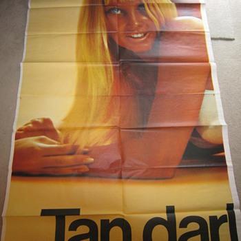 1971 Vintage Sea & Ski Suntan Lotion Billboard Advertisement - Signs