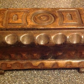 Wooden box - Folk Art