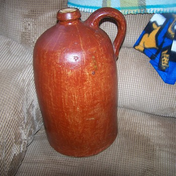 Early Stoneware D.P.Shenfelder signed jug - China and Dinnerware