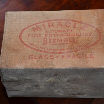 Stemple  Miracle Fire Extinguisher still in original box - Firefighting
