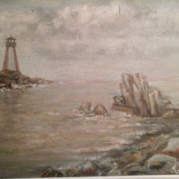 Lighthouse Painting  - Visual Art