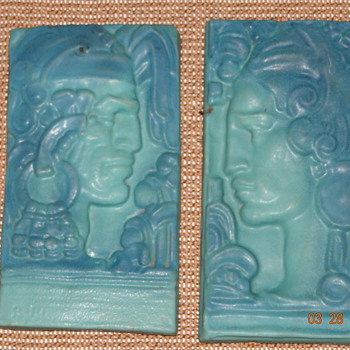 Rare Indian Plaques - Art Pottery