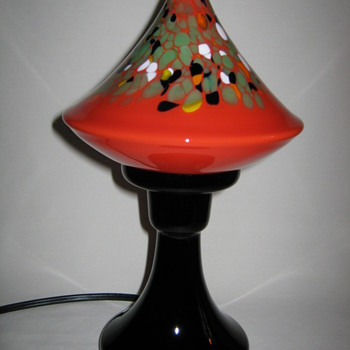 Czechoslovakia art glass Boudoir Lamp by Ruckl 1920's - 1930's