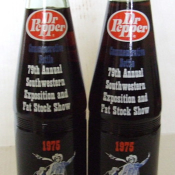 79th Annual Southwestern Exposition &amp; Fat Stock Show 1975 D.P. bottles
