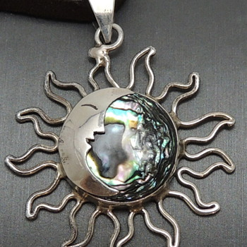 925 Mexico - Sun &amp; Moon Abalone  - Fine Jewelry