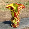 Franz Welz Chartreuse Variegated Vase