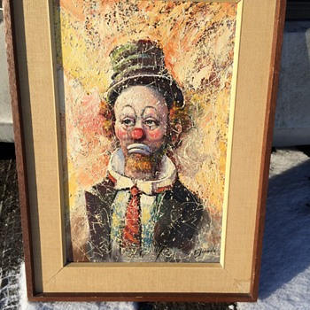 "Clown portrait by""E.Jalava""Circa 1960-70 - Visual Art"