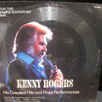 Kenny Rogers Demonstration disk - Advertising