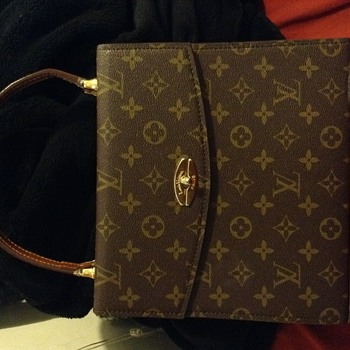 louis vuitton vintage Gold Kelly Style Evening Top Handle Satchel Bag - Bags