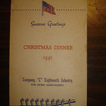 Old WWII Era Company Dinner