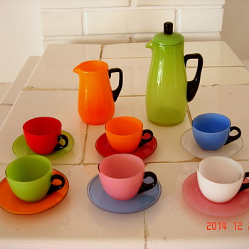 Loetz Cups and Saucers Set - Art Glass