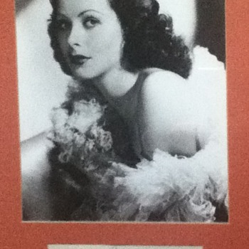 Hedy Lamarr Autograph