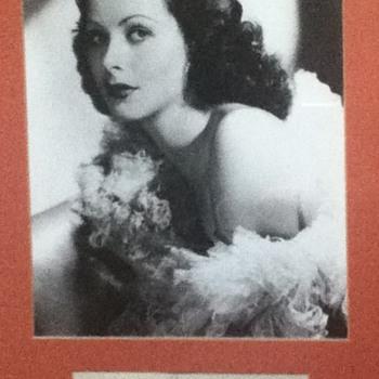 Hedy Lamarr Autograph