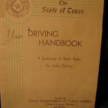 1940 and 1944 Texas Driving Handbooks
