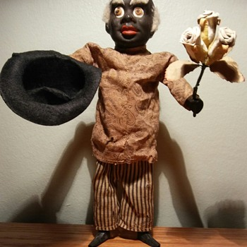 Very Early German Black Man Squeek Toy