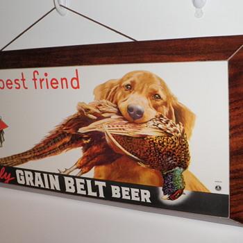 1939 Grain Belt dimensional cardboard w/ string hanger - Breweriana