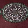 Antique Miniature Silver Filigree Tray