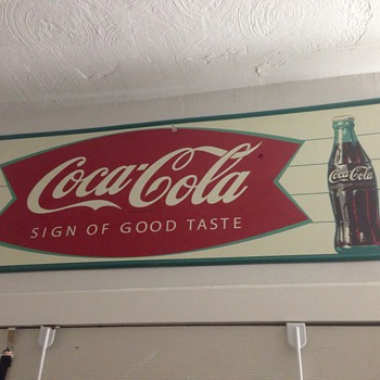 1960 Coca Cola tin Sign of good taste  - Coca-Cola