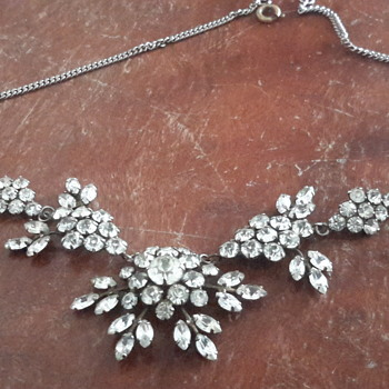 1930s rhinestone/paste necklace