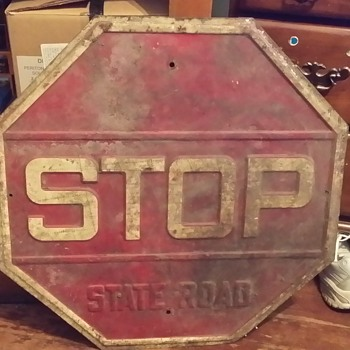 State Road stop sign.