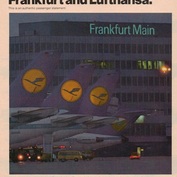 1978 Lufthansa Airlines Advertisement