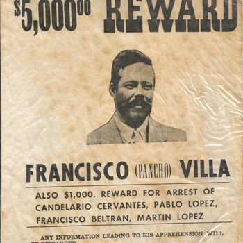 Wanted Francisco (Pancho) Villa Poster