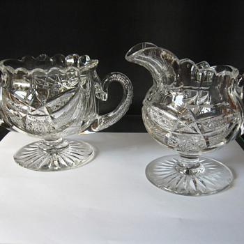 ANTIQUE  HAWKES CUT GLASS  (2 ITEMS) - Glassware