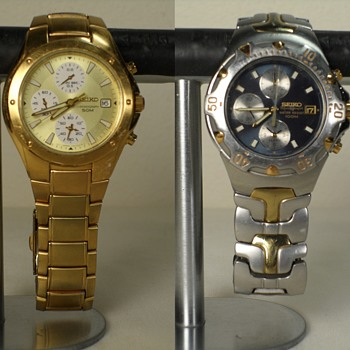 2 Seikos, 2 Fossils and an Invicta - Wristwatches
