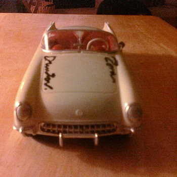 Zora Arkus Duntov signed this Corvette promo...
