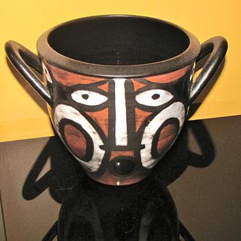 RARE GUSTAV SPORRI AFRICAN STYLE VASE - Art Pottery