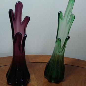 Pair of Viking Glass Vases