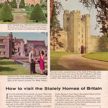 1954 British Travel Assoc. Advertisement - Advertising